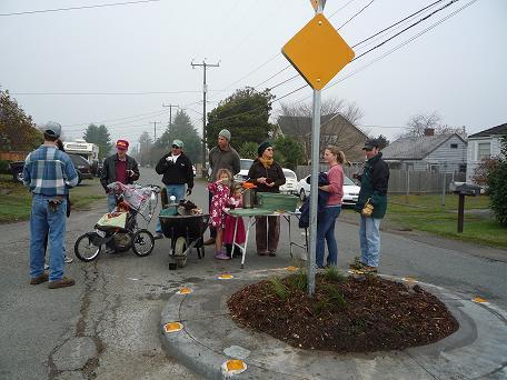 12th Ave & 95th street traffic circle planting crew